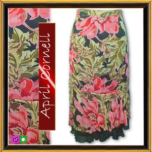 APRIL CORNELL - Floral Skirt - Size M